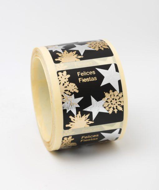 Etiqueta de Navidad estrellas