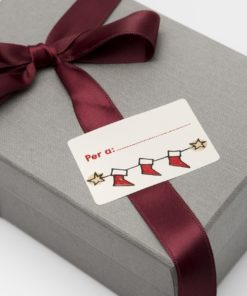etiquetas de navidad calcetines