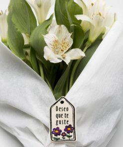etiqueta san valentin flores