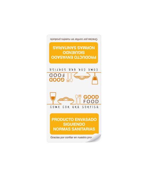 Etiquetas adhesivas para restaurantes cierra bolsas