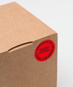 Etiquetas adhesivas industriales covid 19