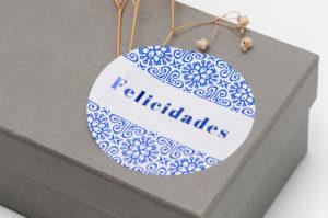 Foto etiquetas colgantes para regalos