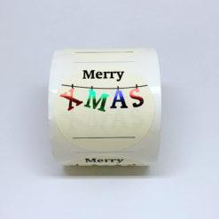 Etiquetas navidad merry christmas