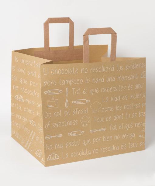bolsa regalo papel marrón