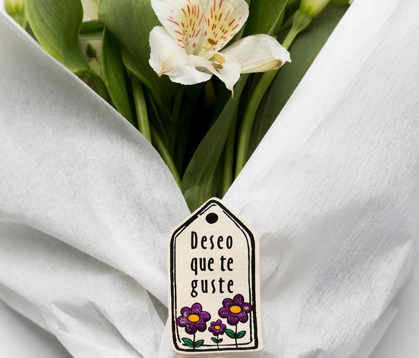 etiquetas regalo floristería