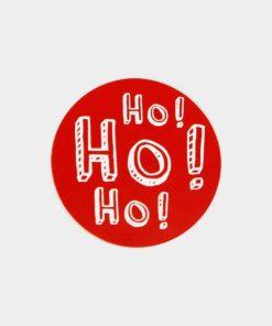 etiqueta de navidad ho