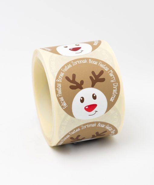 etiquetas de navidad reno